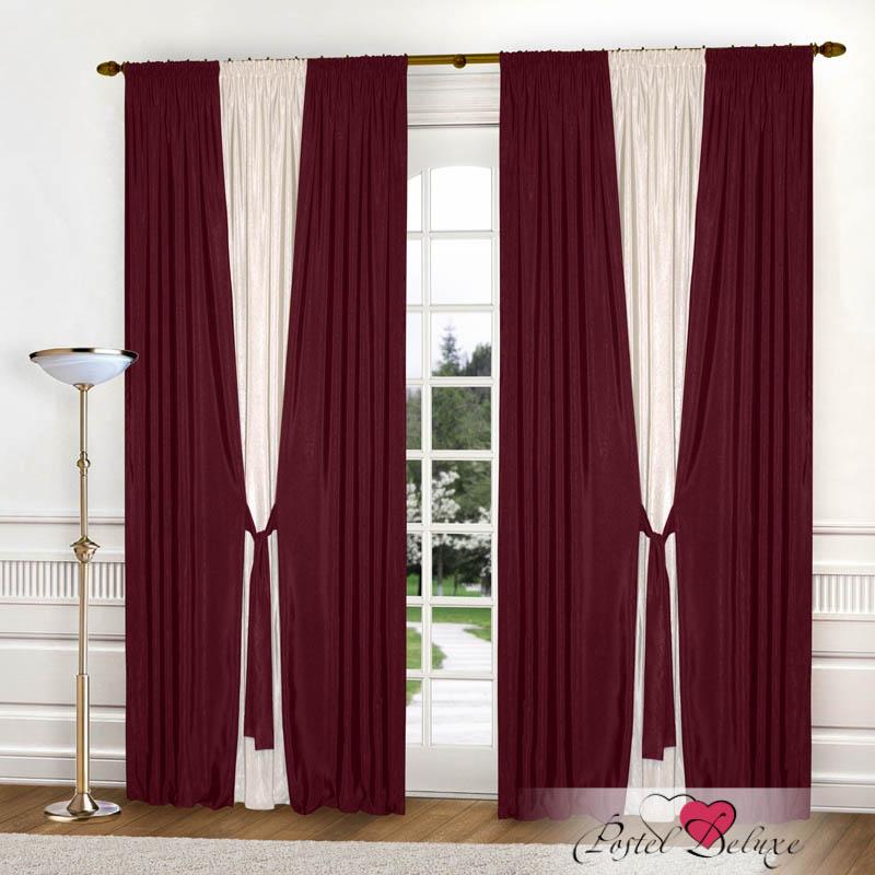 Шторы РеалТекс Классические шторы Somon Цвет: Бордовый реалтекс реалтекс классические шторы akina цвет бежевый бордовый