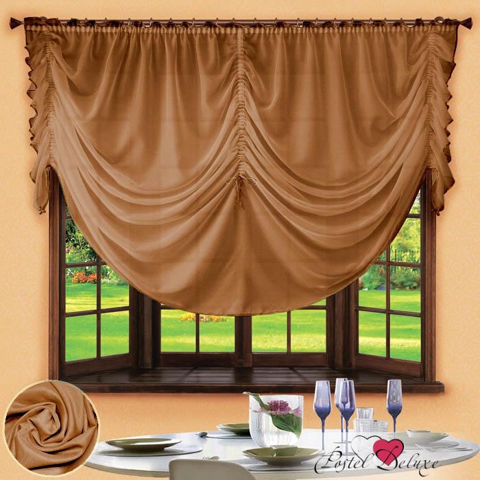 Шторы РеалТекс Французские шторы Corzano Цвет: Шоколадный реалтекс реалтекс классические шторы akina цвет бежевый бордовый