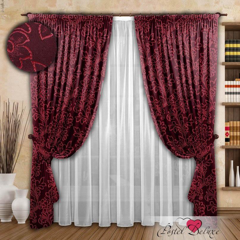 Шторы РеалТекс Классические шторы Fabolous Цвет: Бордовый реалтекс реалтекс классические шторы akina цвет бежевый бордовый