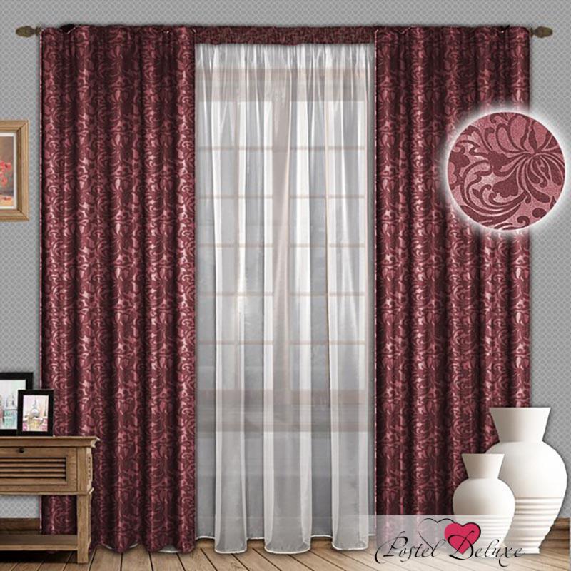 Шторы РеалТекс Классические шторы Nayeli Цвет: Бордовый реалтекс реалтекс классические шторы akina цвет бежевый бордовый