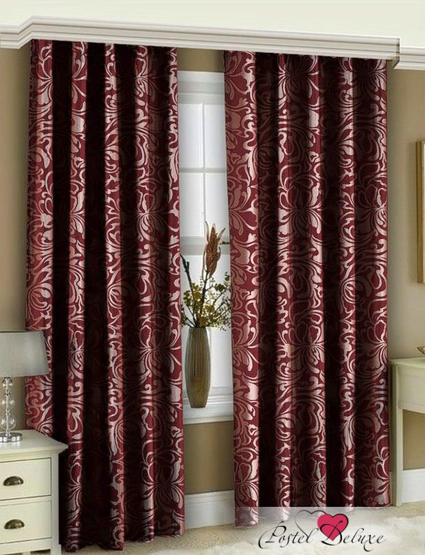 Шторы РеалТекс Классические шторы Casto Цвет: Бордовый реалтекс реалтекс классические шторы akina цвет бежевый бордовый
