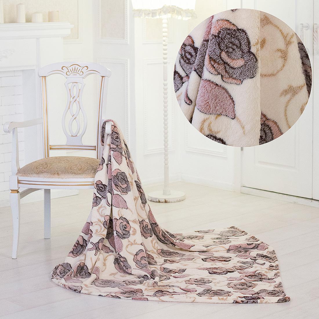 Плед Eleganta Плед Розы (150х200) плед eleganta плед помпон цвет фиолетовый 210х220 см