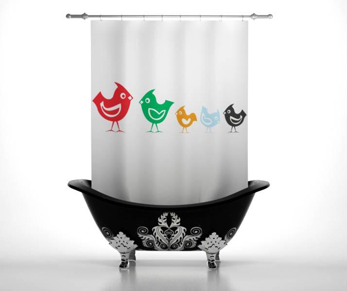 Шторы для ванной StickButik