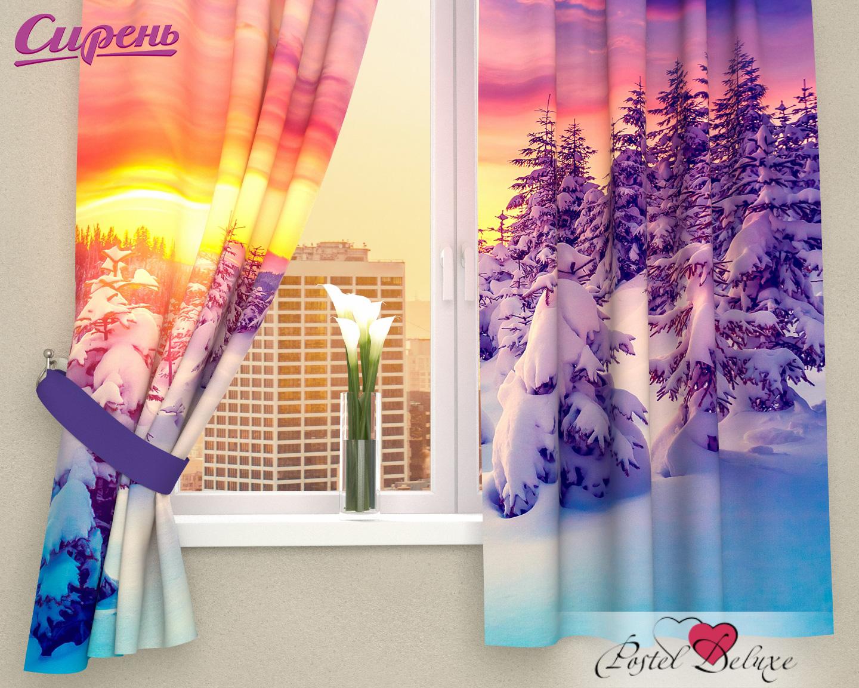 Шторы Сирень Фотошторы Закат В Зимнем Лесу
