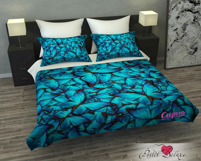 где купить  Покрывало Сирень Покрывало Голубые Бабочки (145х220 см)  по лучшей цене