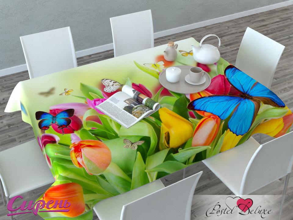 Скатерти и салфетки Сирень Скатерть Бабочки (120х145 см)  сирень бабочки