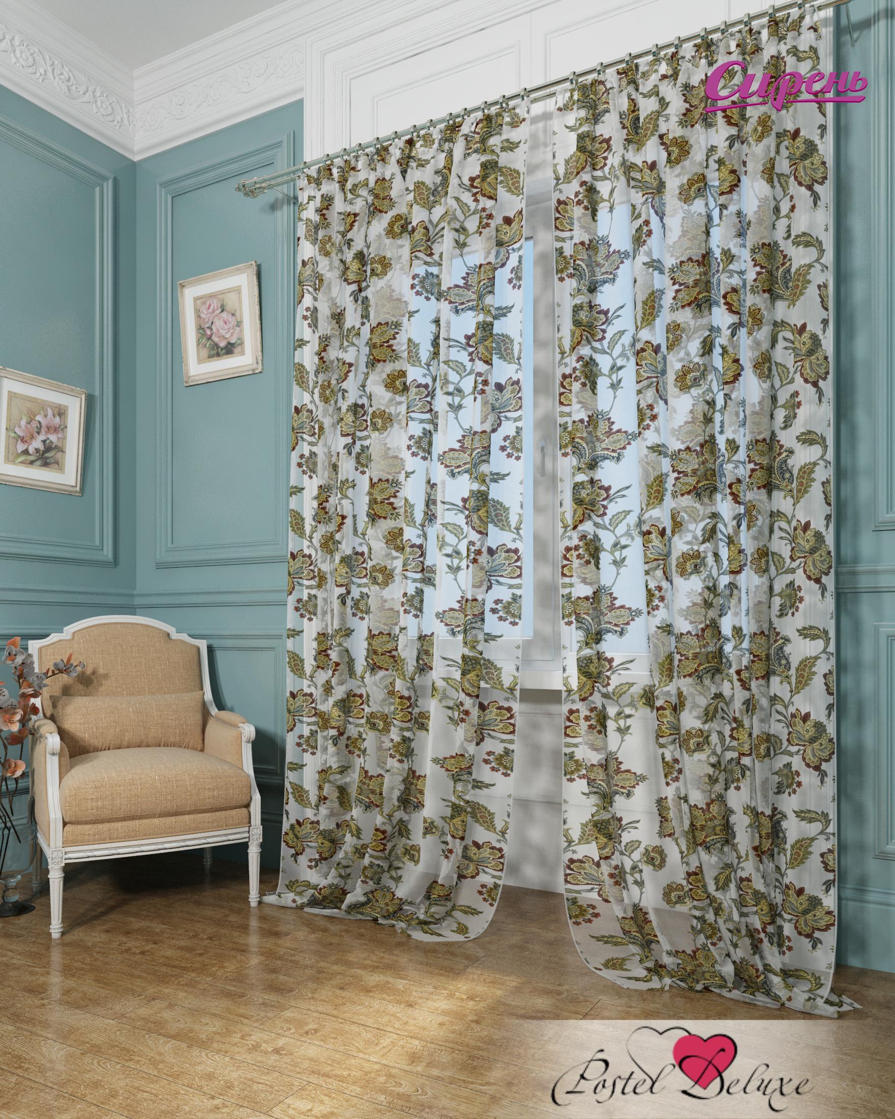 Сирень Классические шторы Благородные Цветы