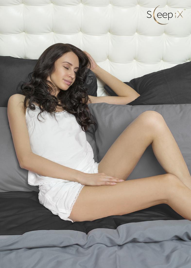 Постельное белье Perfection Цвет: Серый + Черный (2 сп. евро) Sleep iX
