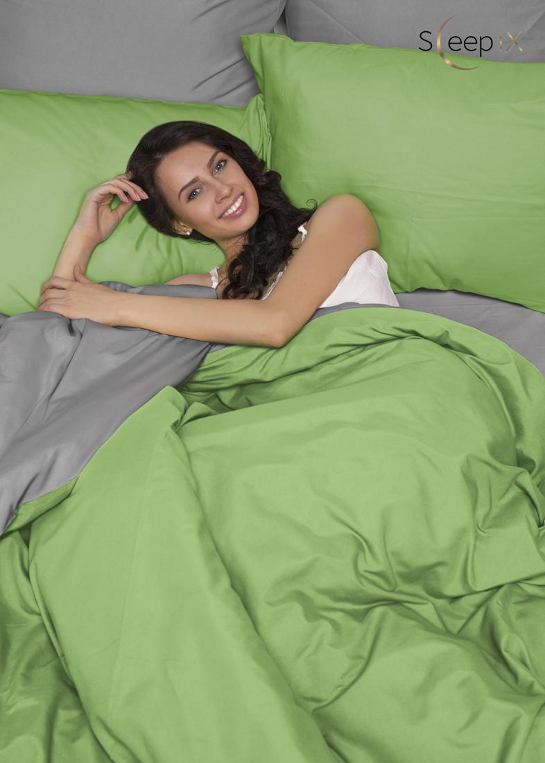 Sleep iX Постельное бельеPerfectionЦвет: Зеленый + Серый (1,5 спал.) valtery постельное белье mandy 1 5 спал
