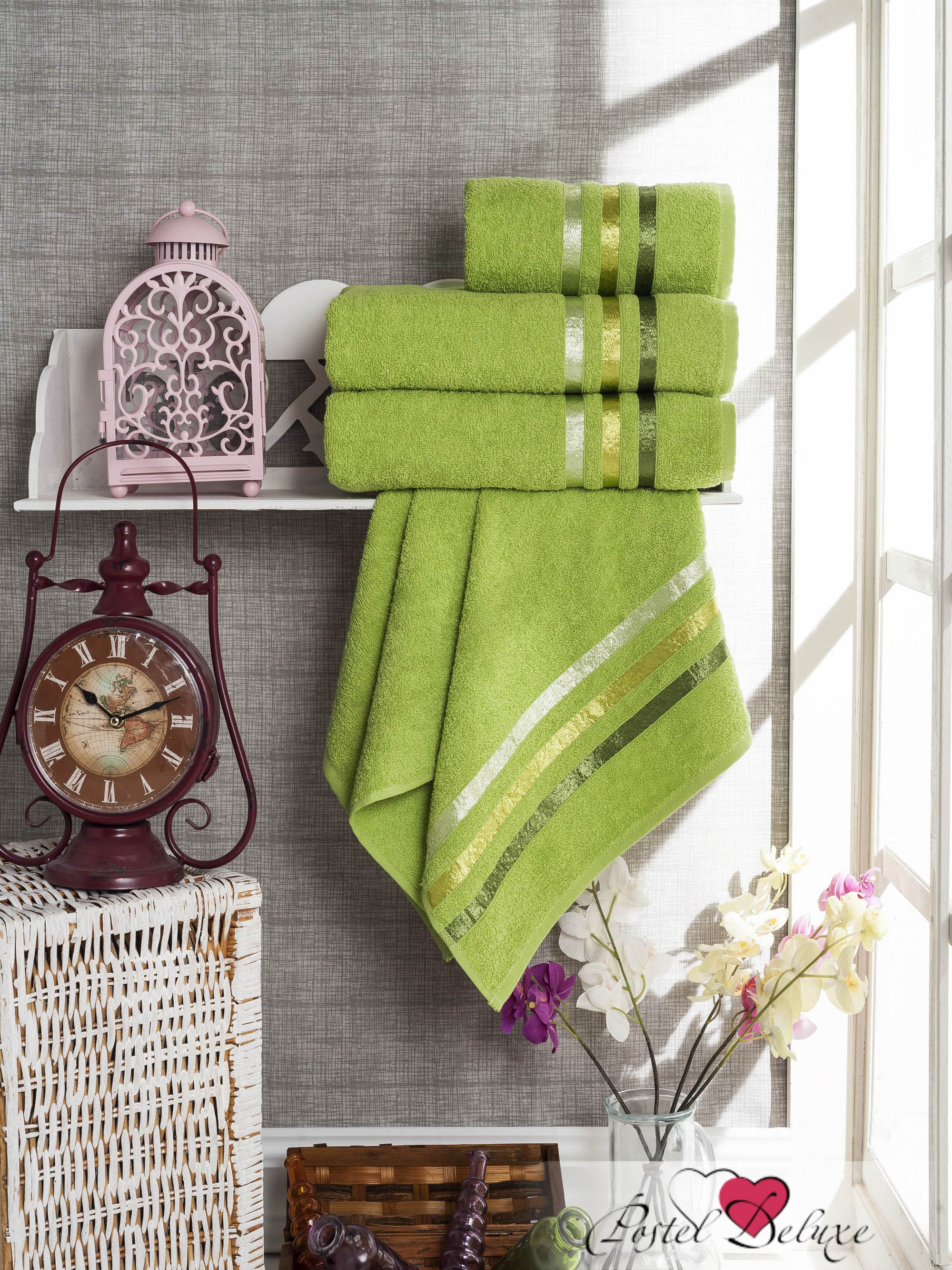 Полотенца Sokuculer Набор Полотенец Vevien Цвет: Зелёный набор из 3 полотенец merzuka sakura 50х90 2 70х140 8432 оранжевый