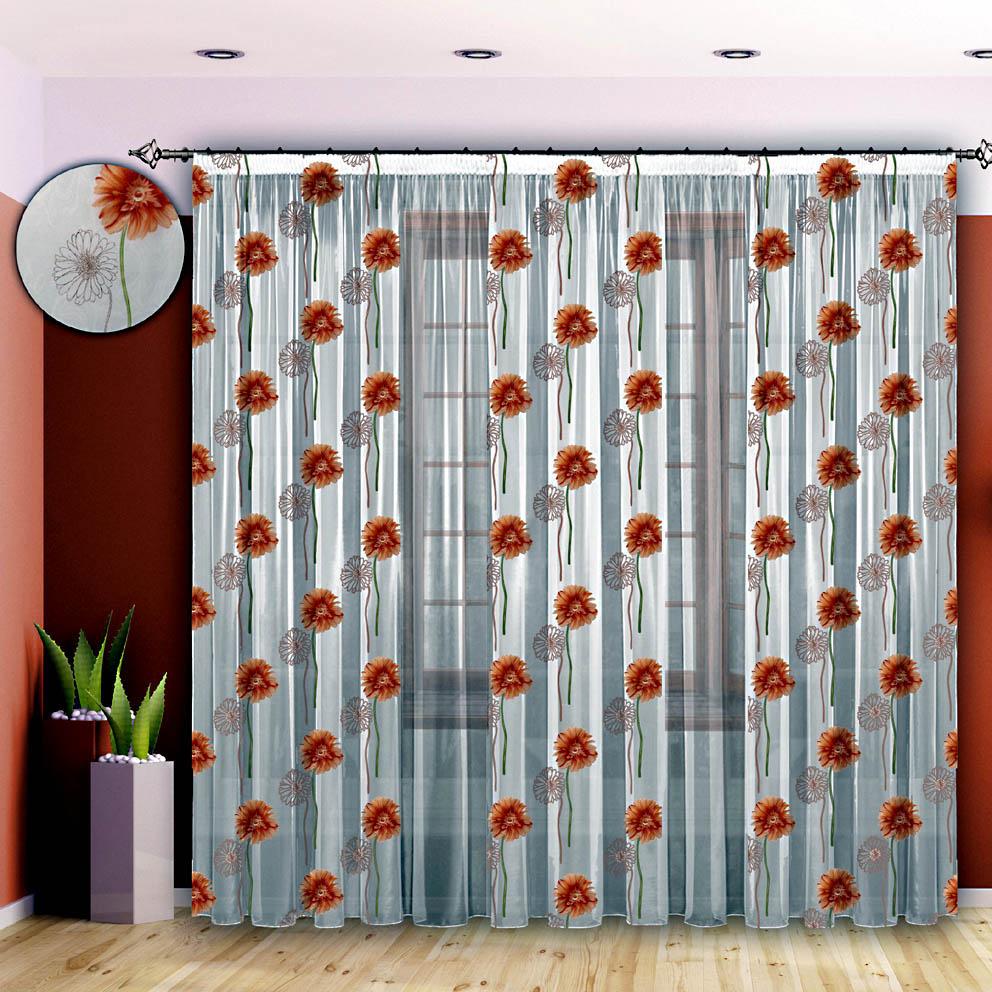 Шторы РеалТекс Классические шторы Счастье Цвет: Оранжевый реалтекс реалтекс классические шторы akina цвет бежевый бордовый