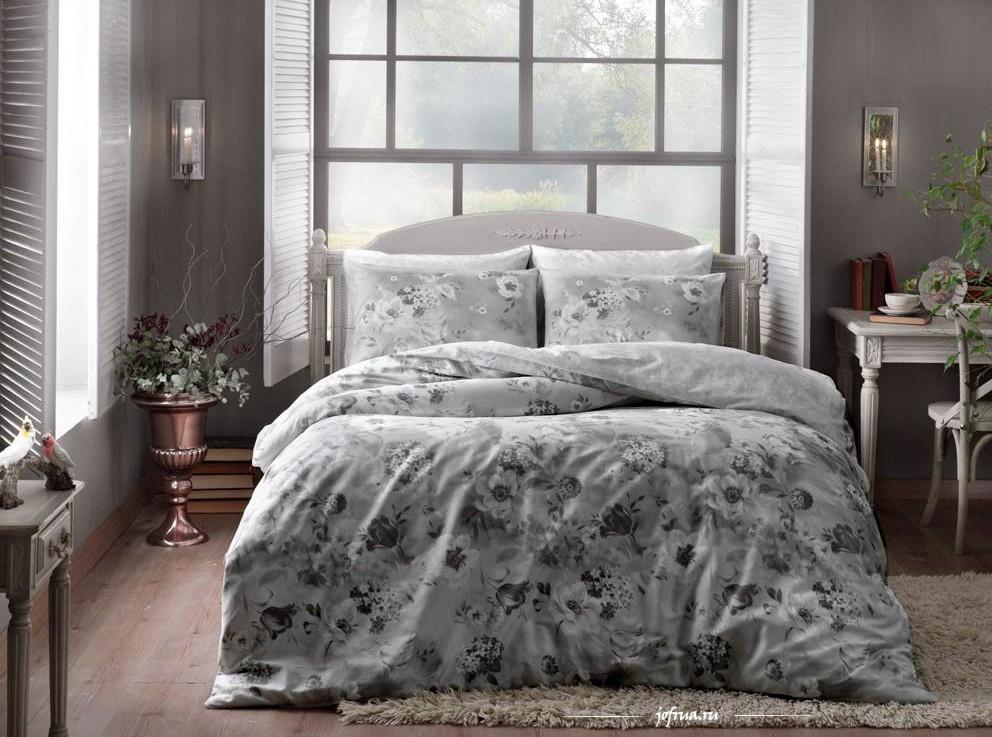 Постельное белье TAC Постельное белье Allure Цвет: Серый (семейное)