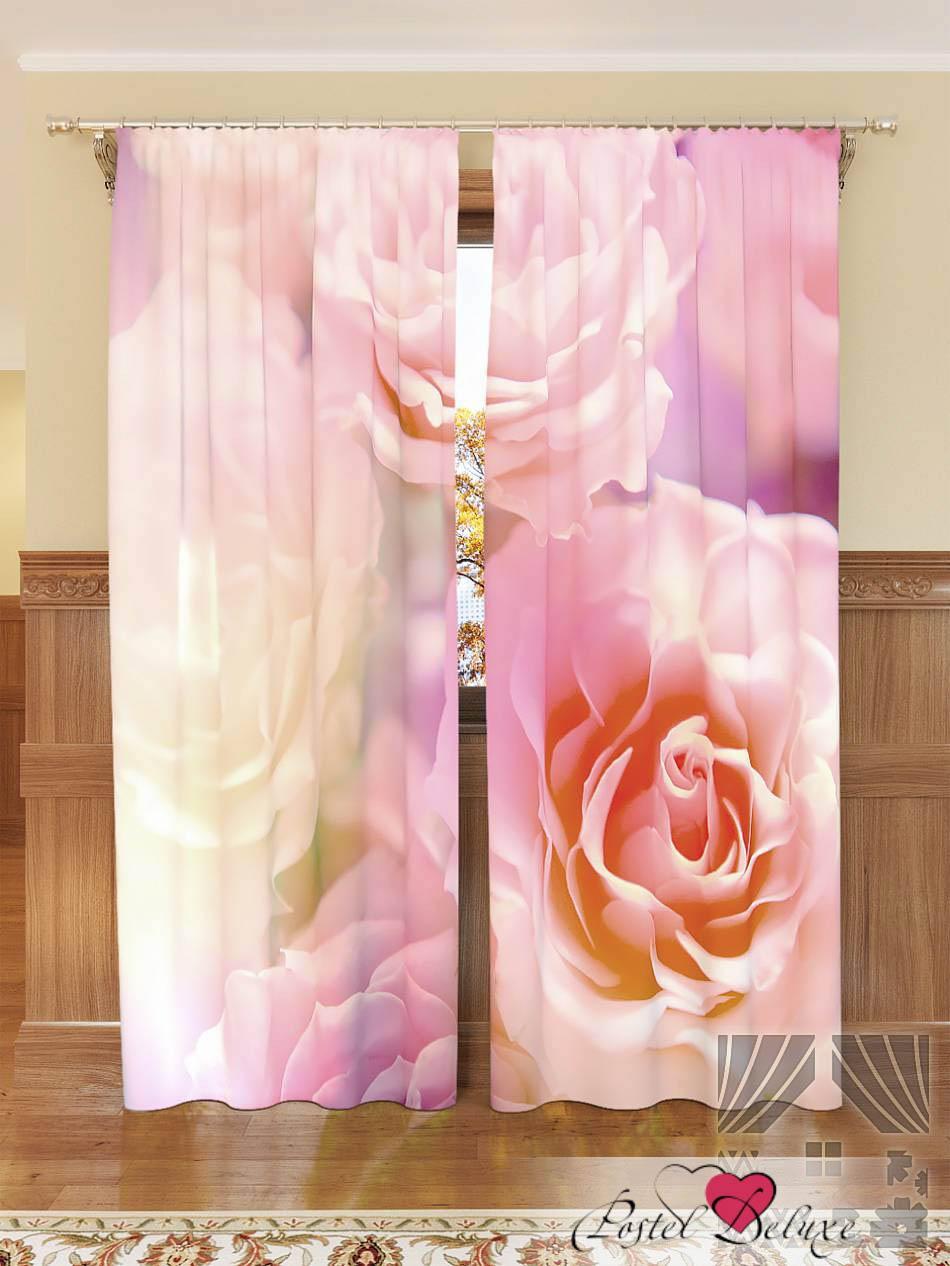 Шторы ТомДом Фотошторы Розовые Розы