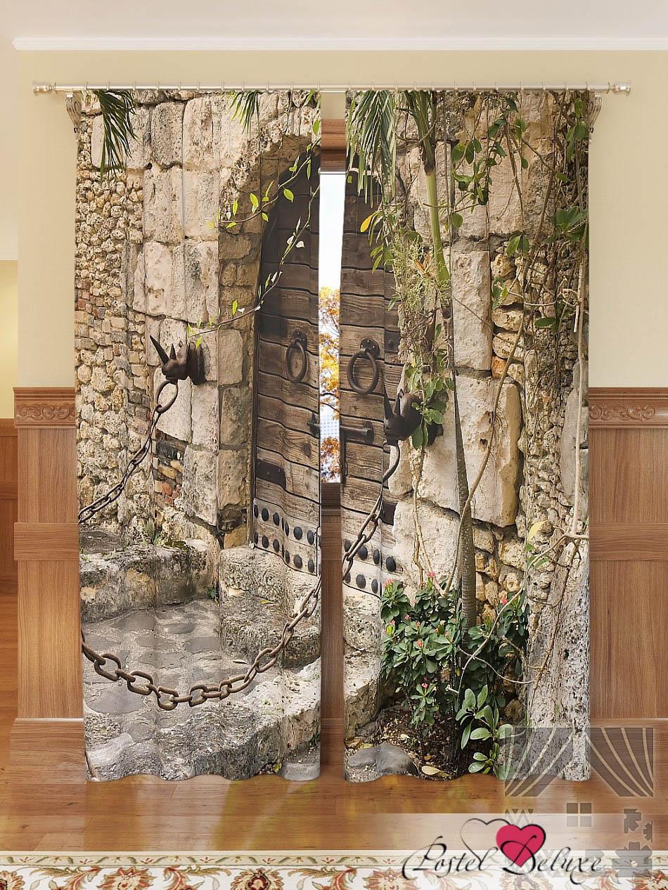 Шторы ТомДом Фотошторы Старинная Дверь