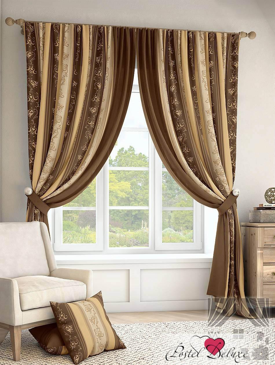 Шторы ТомДом Классические шторы Лекс Цвет: Коричневый томдом томдом классические шторы луала