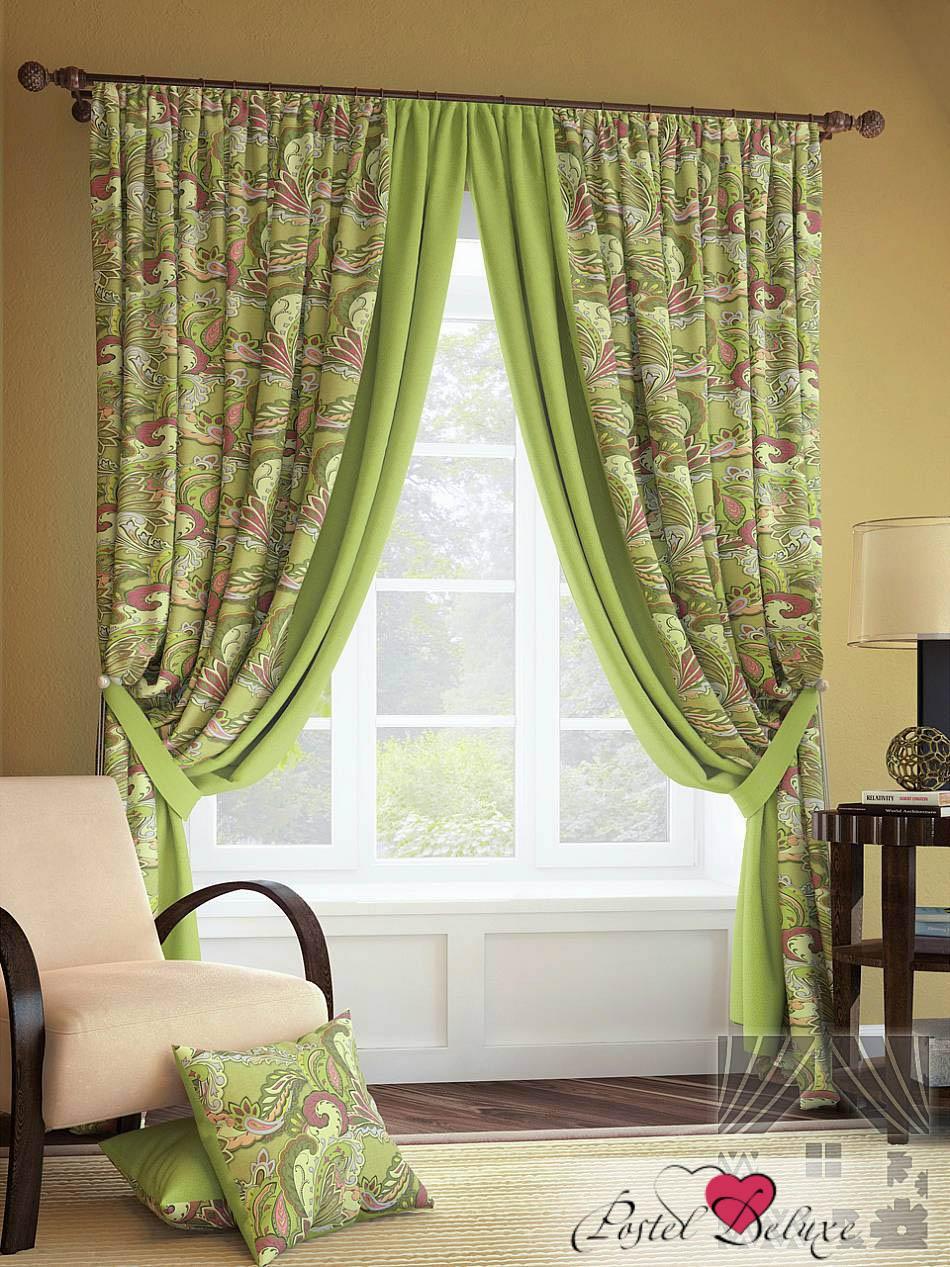 Шторы ТомДом Классические шторы Краун Цвет: Зеленый