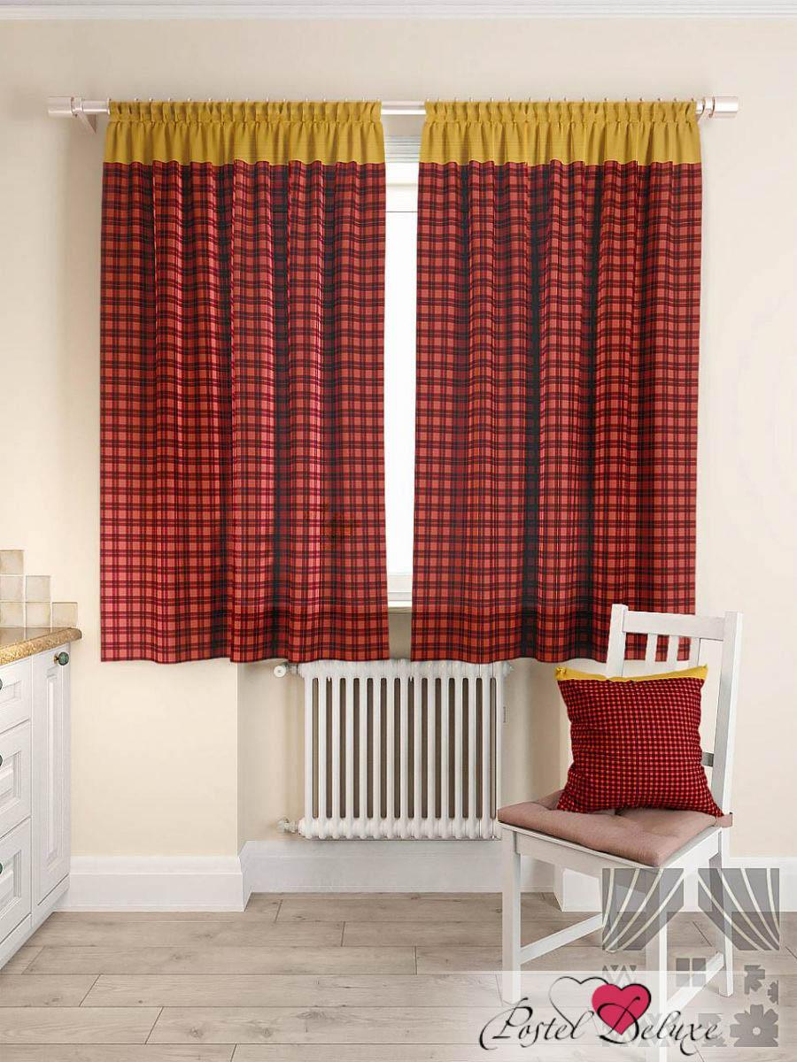 Шторы ТомДом Классические шторы Пиндаф Цвет: Бордовый томдом томдом классические шторы луала