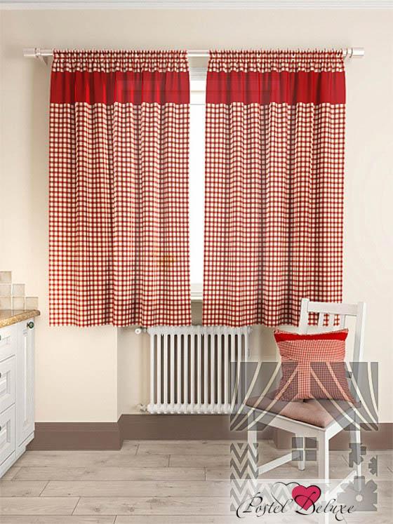 Шторы ТомДом Классические шторы Стазия Цвет: Красный