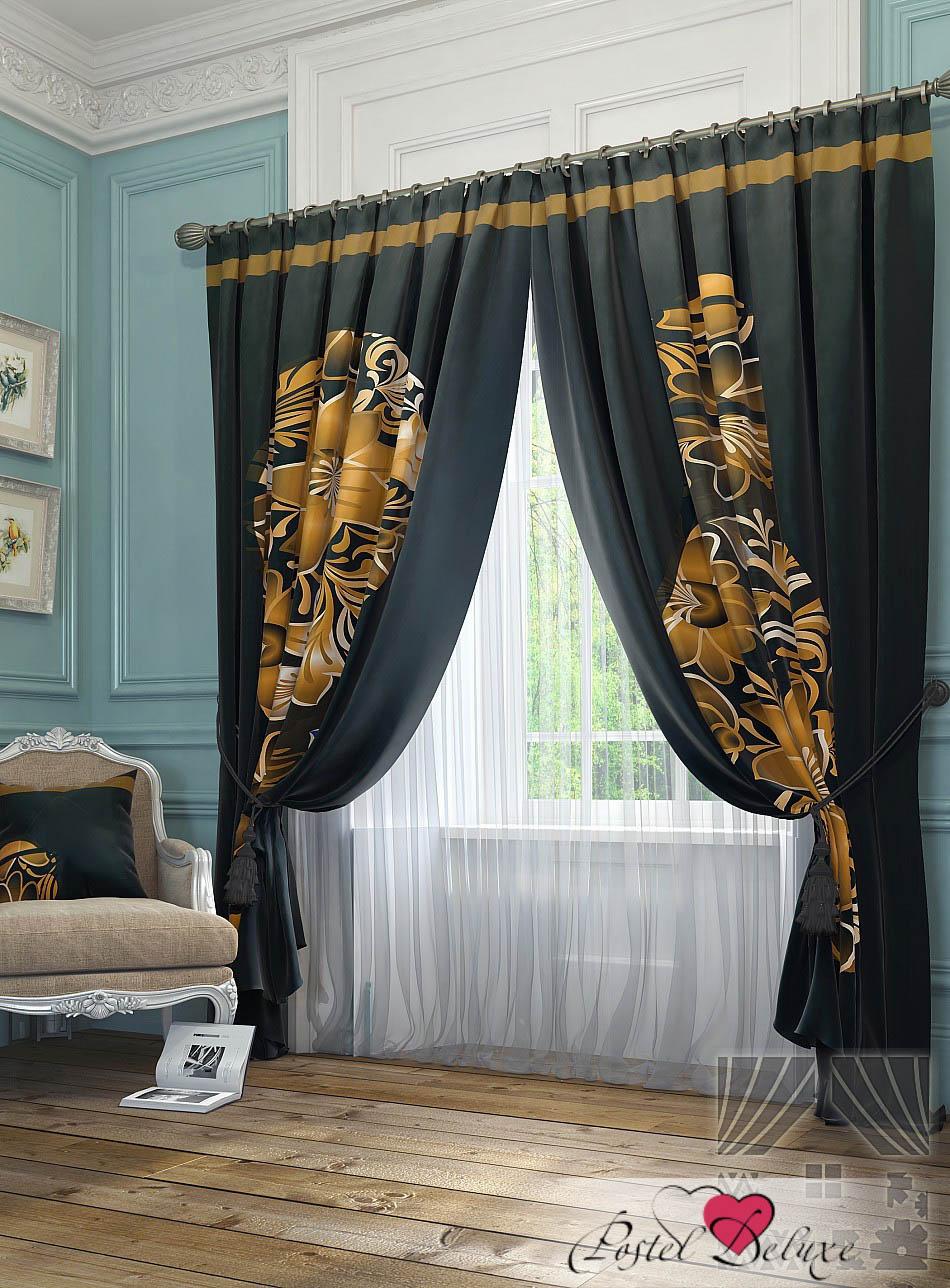 Шторы ТомДом Классические шторы Юстас Цвет: Золото