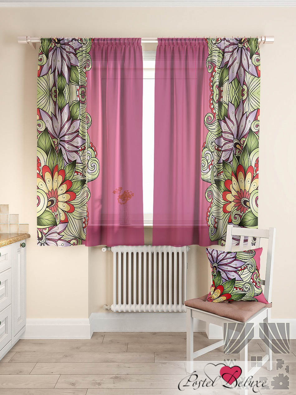Шторы ТомДом Классические шторы Балес Цвет: Фиолетовый