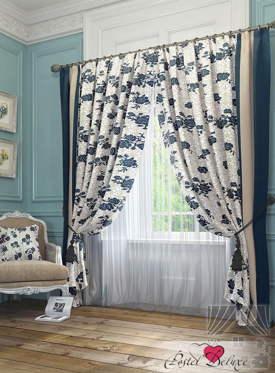 Шторы ТомДом Классические шторы Тильзит Цвет: Синий томдом томдом классические шторы луала