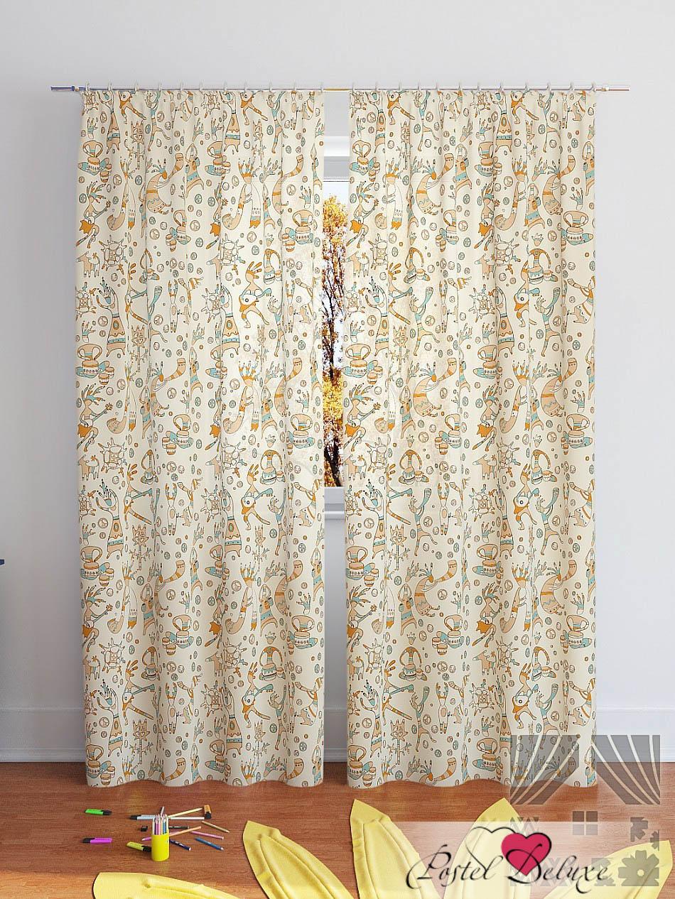 Шторы ТомДом Классические шторы Шанки-К Цвет: Бежевый шторы томдом классические шторы мелета к цвет бежевый