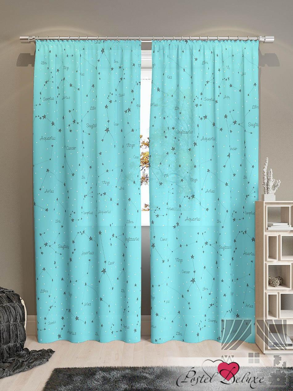 Шторы ТомДом Классические шторы Эбис-К Цвет: Бирюзовый