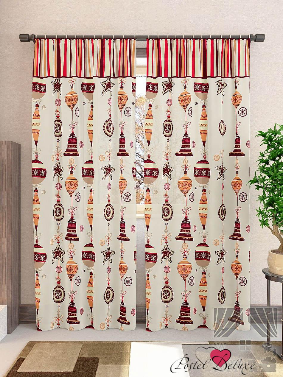 Шторы ТомДом Классические шторы Лакона-К Цвет: Бежевый шторы томдом классические шторы мелета к цвет бежевый