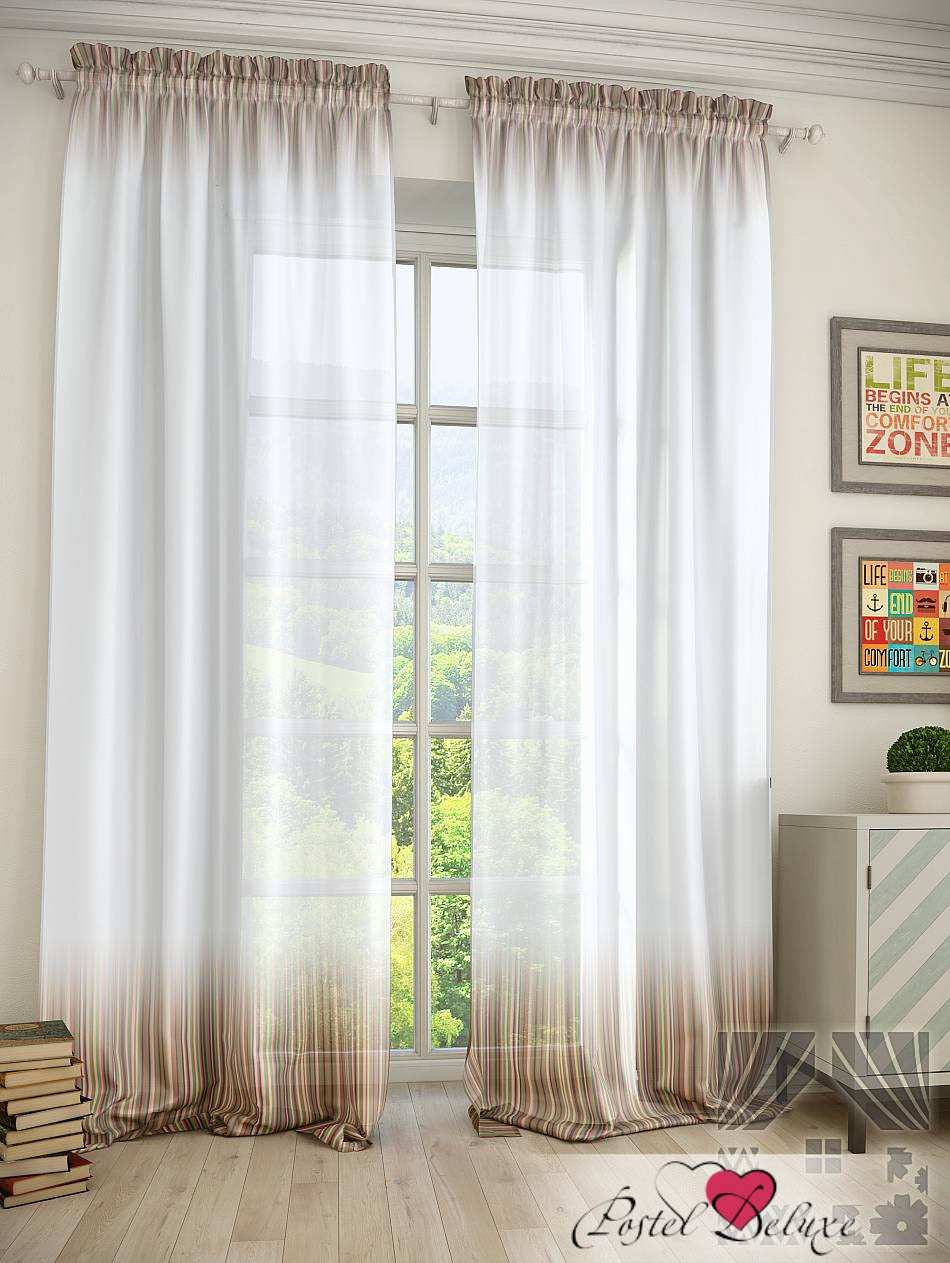 Шторы ТомДом Классические шторы Бистчо Цвет: Коричневый