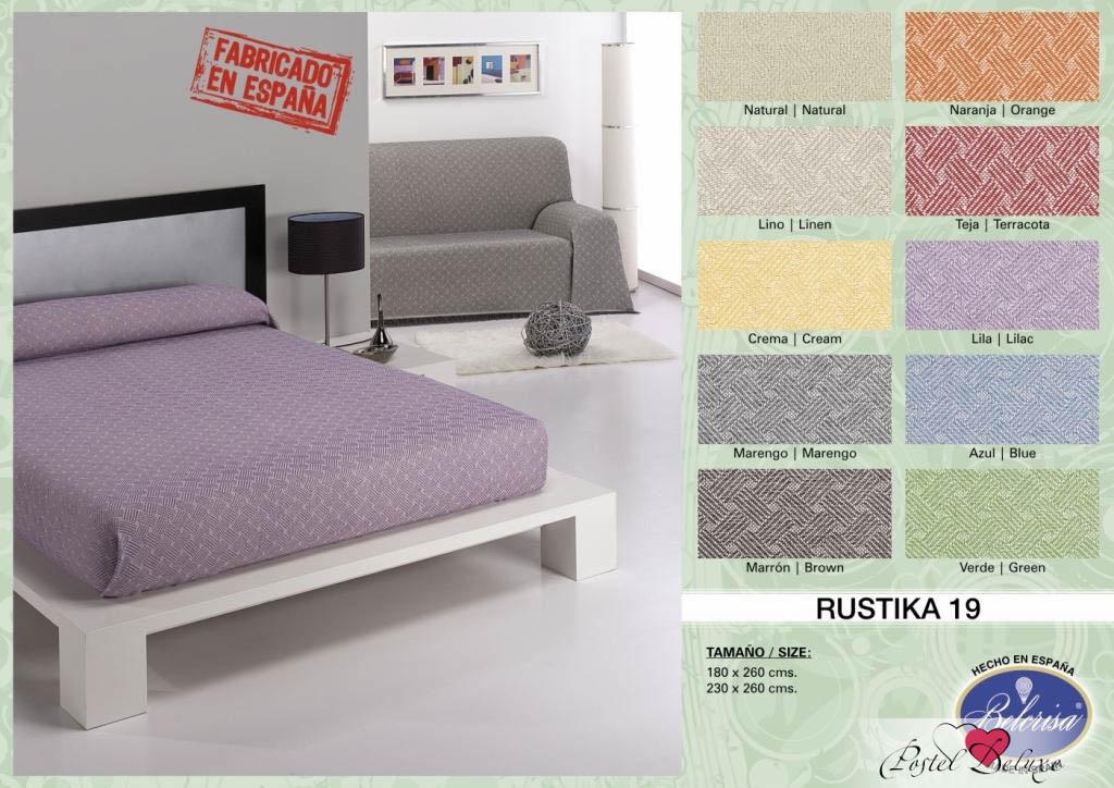 где купить Покрывало Umbritex Покрывало Rustica19 Цвет: Кремовый (180х260 см) по лучшей цене