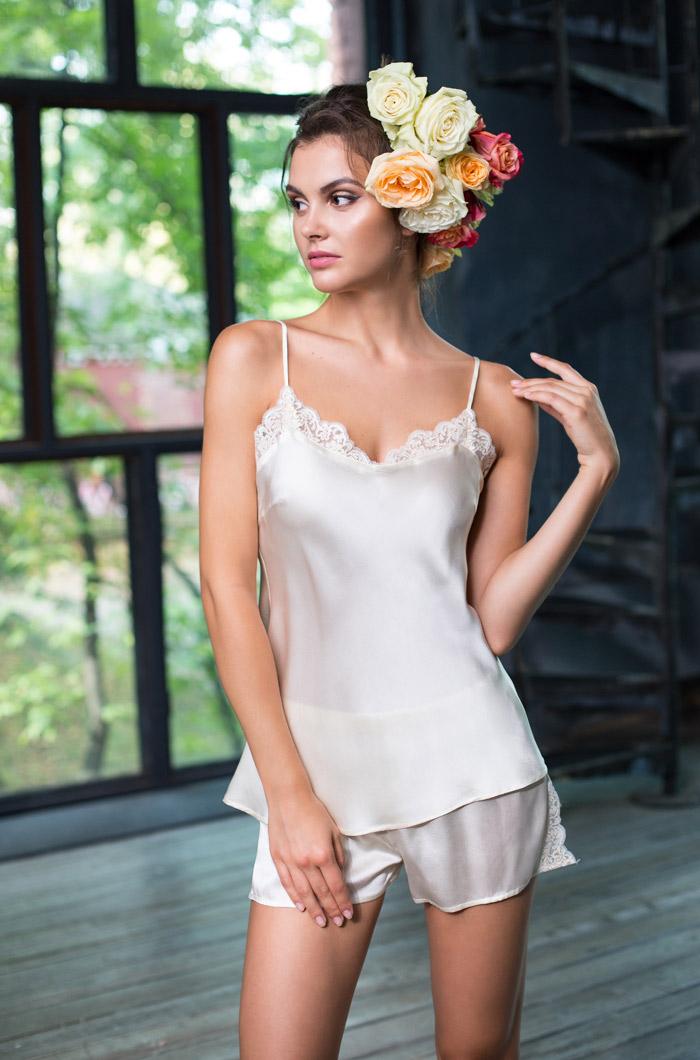 Пижамы Mia-Mia Пижама Kristy Цвет: Шампань (L) пижама mia mia crystal бирюзовый l