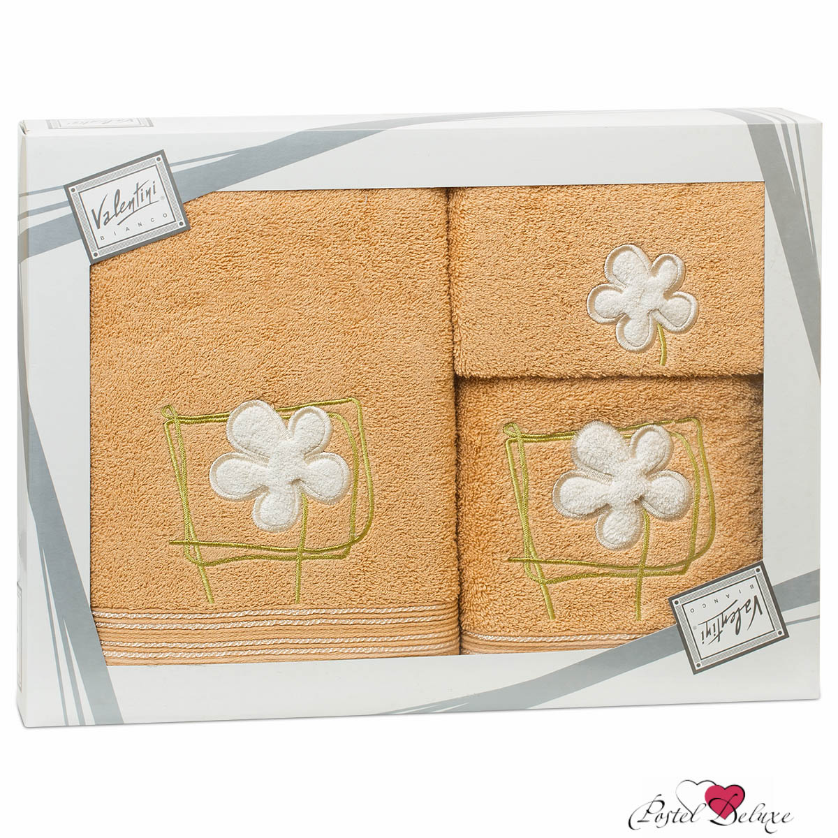 Valentini Полотенце Flower Цвет: Бежевый (Набор)