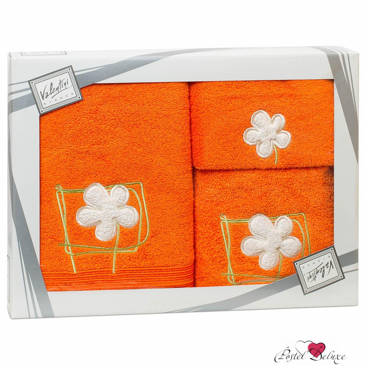 Полотенца Valentini Полотенце Flower Цвет: Оранжевый (Набор) набор из 3 полотенец merzuka sakura 50х90 2 70х140 8432 оранжевый