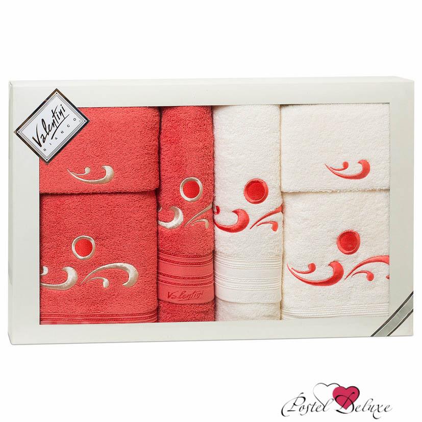 Полотенца Valentini Полотенце Fantasy Цвет: Красный, Кремовый (Набор) полотенца eleganta полотенце anetta цвет темная фуксия набор