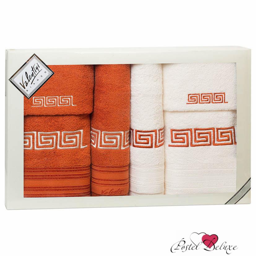 Полотенца Valentini Полотенце Fashion Цвет: Терракотовый, Кремовый (Набор) полотенца eleganta полотенце anetta цвет темная фуксия набор