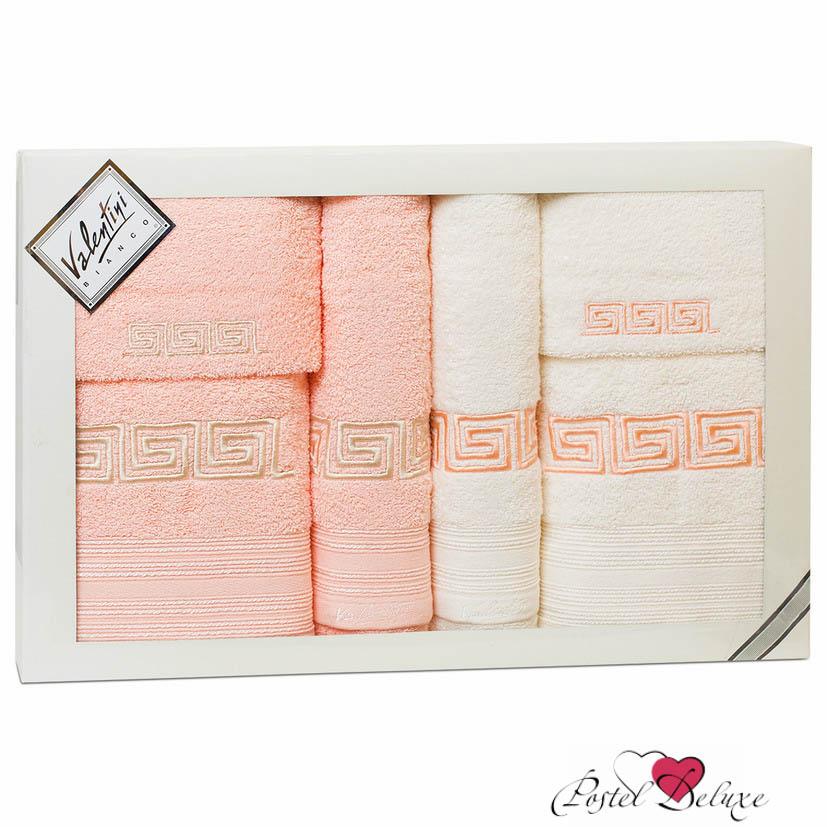 Полотенца Valentini Полотенце Fashion Цвет: Бледно-Розовый, Кремовый (Набор) полотенца eleganta полотенце anetta цвет темная фуксия набор