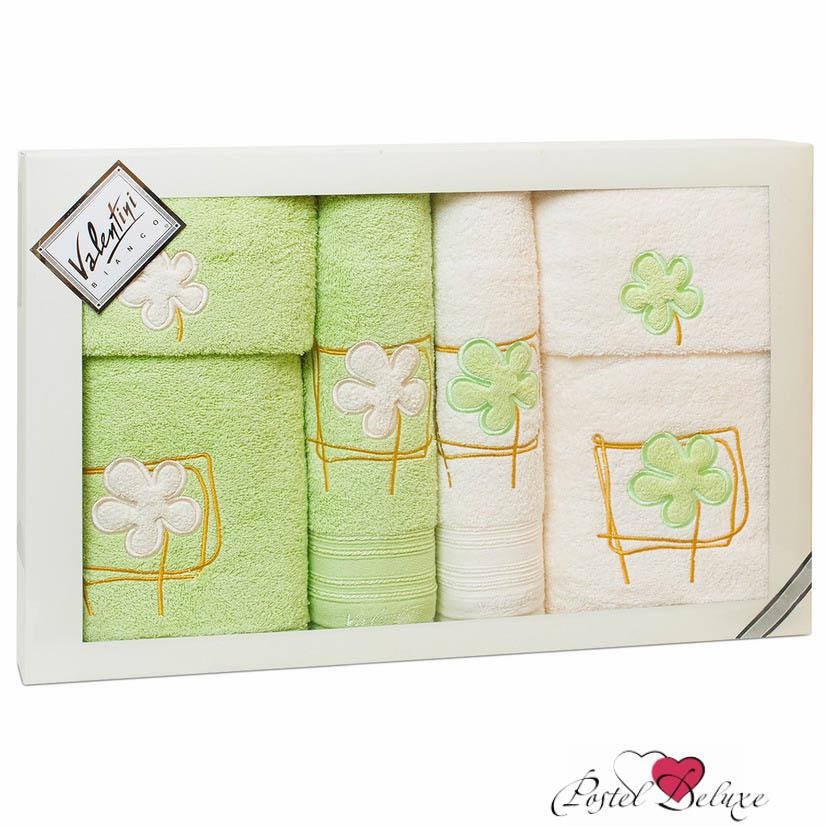 Полотенца Valentini Полотенце Flower Цвет: Салатовый, Кремовый (Набор) полотенца eleganta полотенце anetta цвет темная фуксия набор