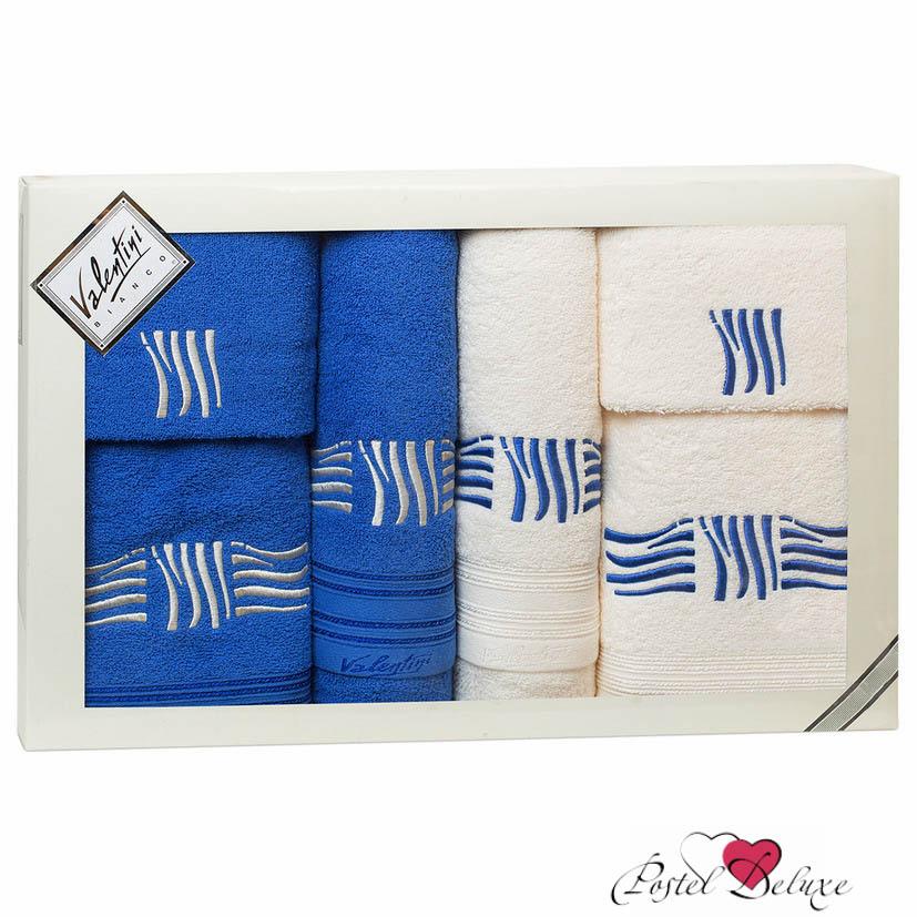 Полотенца Valentini Полотенце Sea Цвет: Синий, Белый (Набор) полотенца eleganta полотенце anetta цвет темная фуксия набор