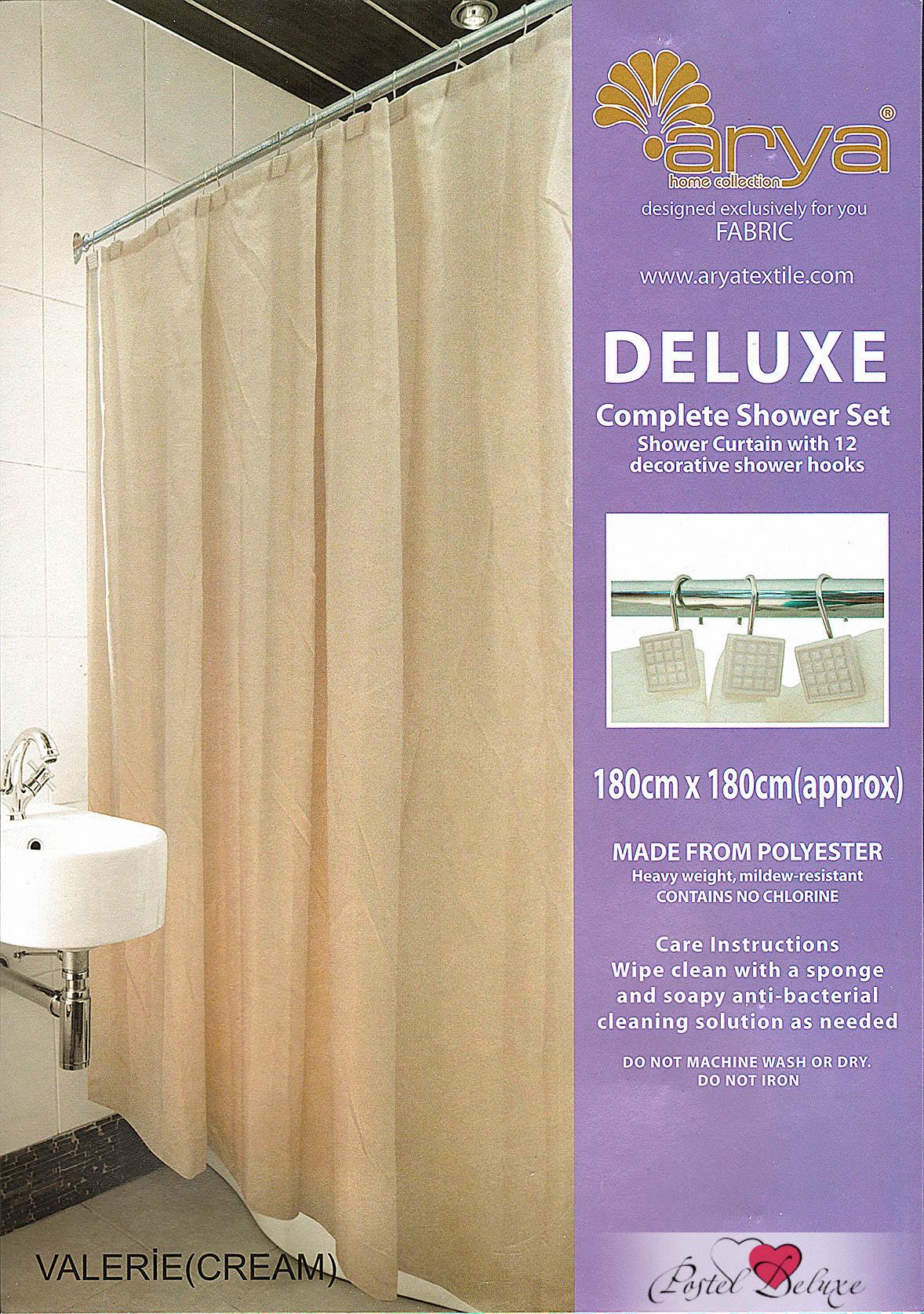 Шторы для ванной AryaПростыни без резинки<br>Производитель: Arya<br>Страна производства: Турция<br>Шторы для ванной<br>Состав: Полиэстер<br>Размер: 180х180 см<br>Вид крепления: Люверсы<br><br>Тип: шторы для ванной<br>Размерность комплекта: для ванной<br>Материал: Полиэстер<br>Размер наволочки: None<br>Подарочная упаковка: для ванной<br>Для детей: нет для ванной<br>Ткань: Полиэстер<br>Цвет: Кремовый