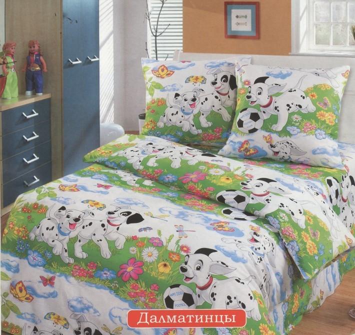 все цены на Детское Постельное белье Valtery Постельное белье Dalmatian V4 (Полутороспальный) в интернете