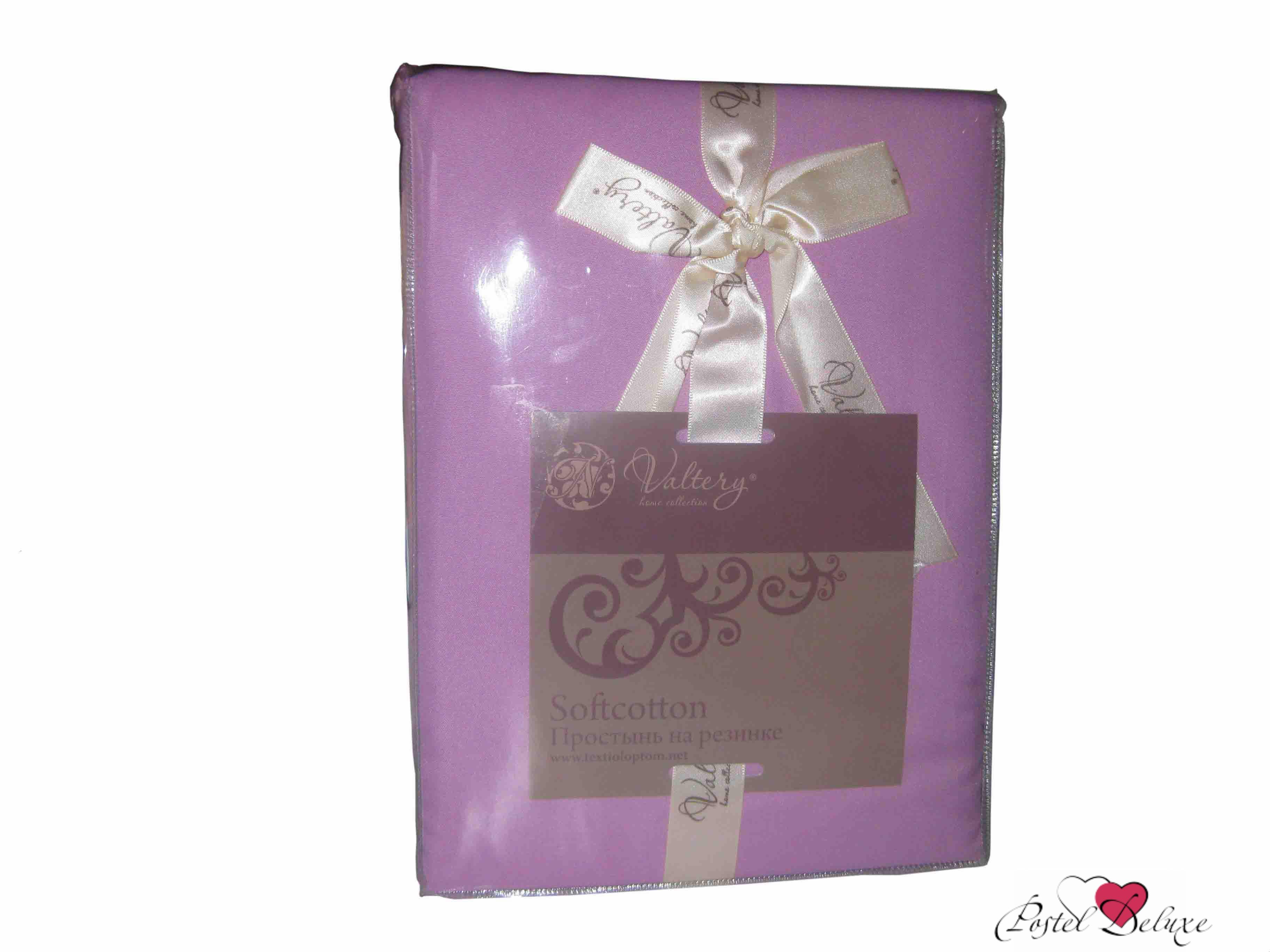 где купить  Простыни Valtery Простыня на резинке Joleen Цвет: Фиолетовый  по лучшей цене