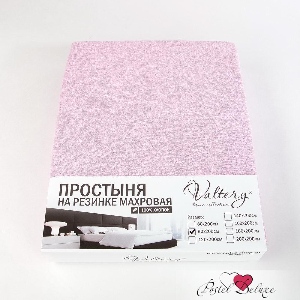 где купить Простыни Valtery Простыня на резинке Dante Цвет: Розовый (90х200 см) по лучшей цене