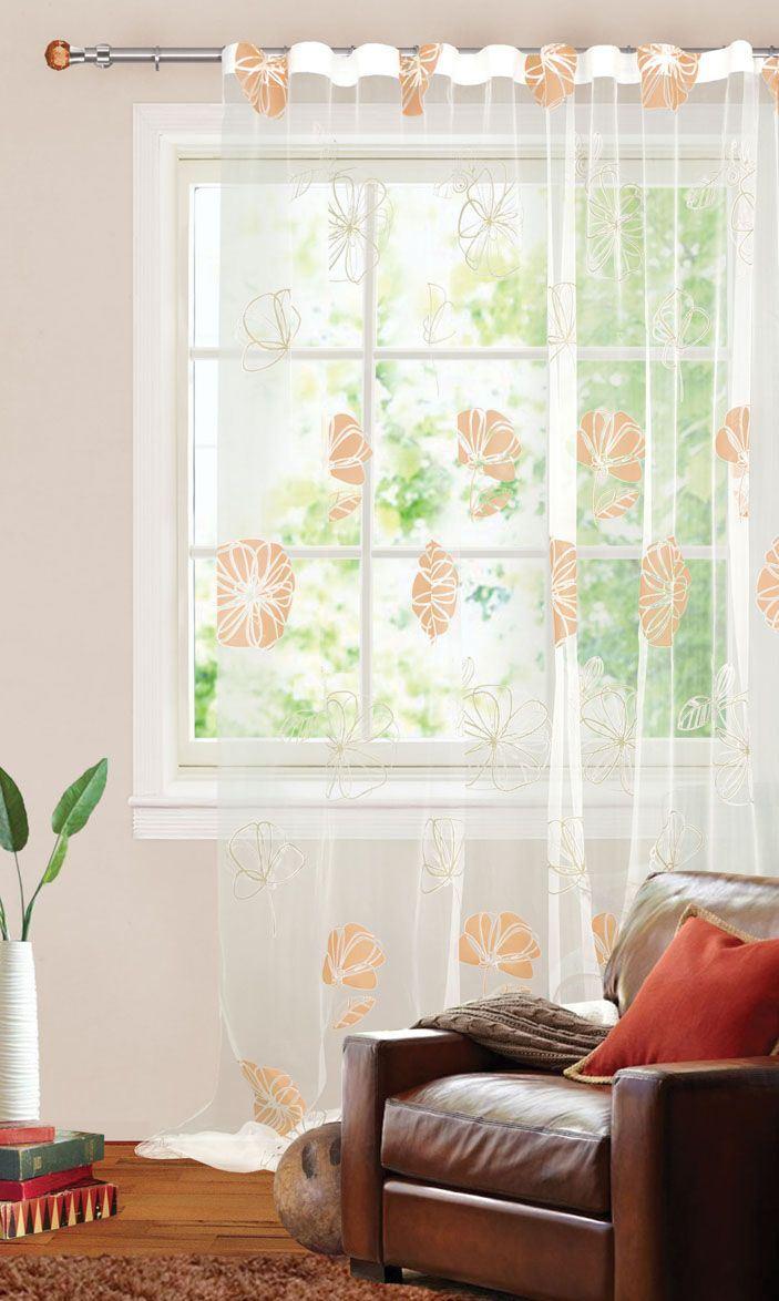 Шторы Garden Классические шторы Шелковый Цветок Цвет: Бежевый
