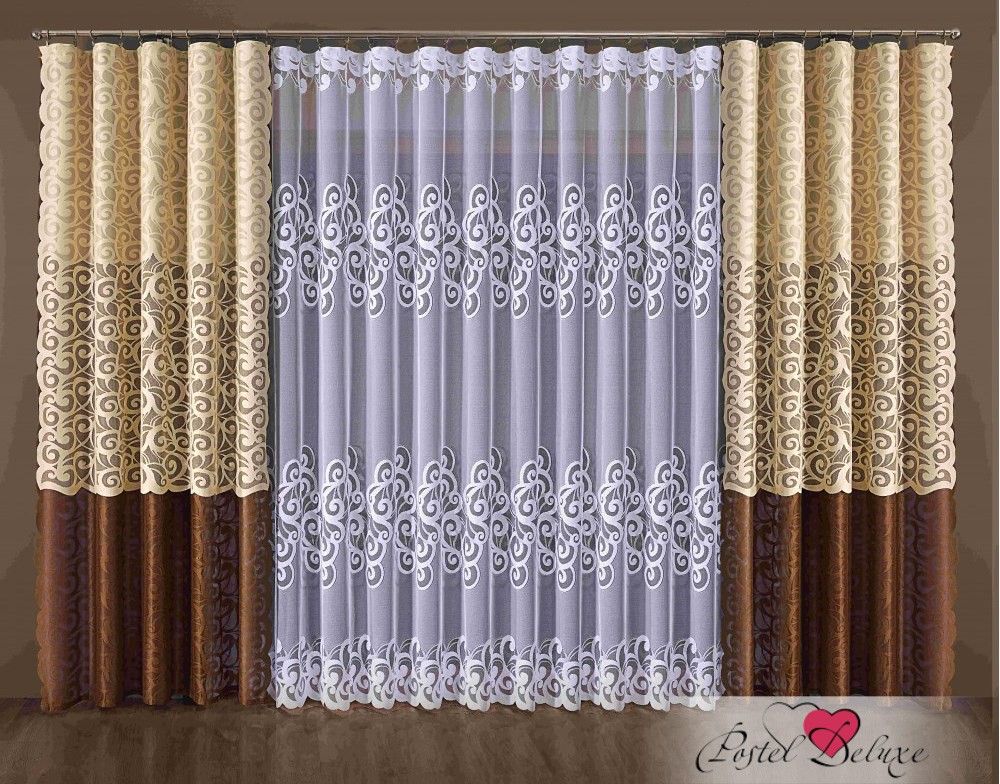 Шторы Wisan Классические шторы Kelsey Цвет: Коричневый wisan wisan классические шторы melicent цвет кремовый