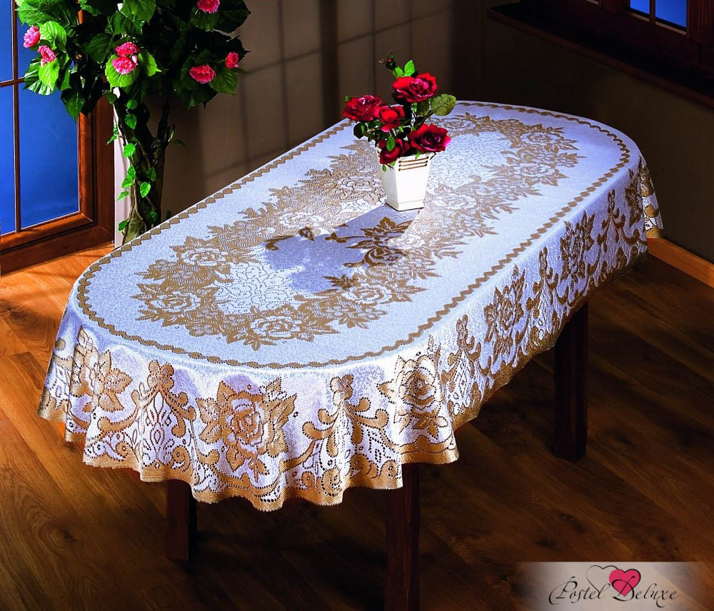 Wisan Скатерть Barnabas Цвет: Крем/Золото (220х140 см)