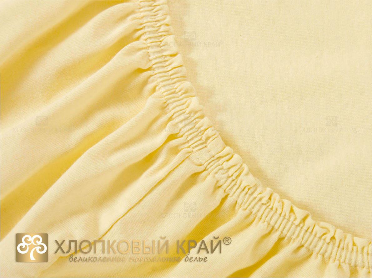 где купить  Простыни Хлопковый Край Простыня на резинке Mimoza Цвет: Желтый (90х200)  по лучшей цене
