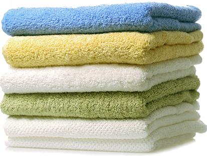 Гладкокрашенные однотонные полотенца